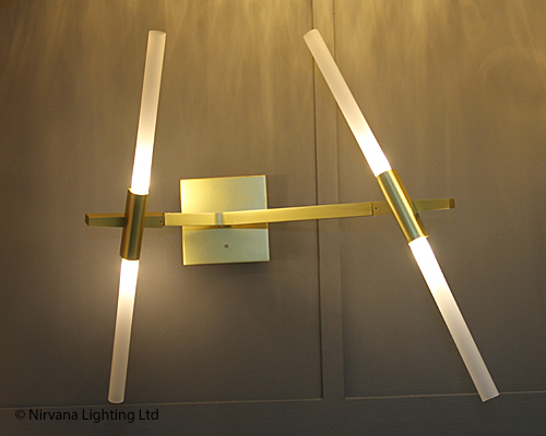 Description: The Star Wars Satin Gold Wall Lamp ...