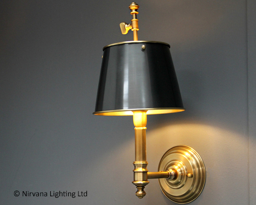 Black Ornate Wall Lights : Statesman Black Gold Wall Light - Nirvana Lighting Nirvana Lighting