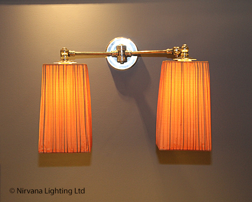 Caesar Pleated Pewter Mega Wall Light Nirvana Lighting