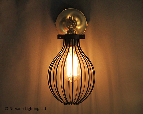 Half-Time Black Metal Single Wall Light - Nirvana Lighting Nirvana Lighting