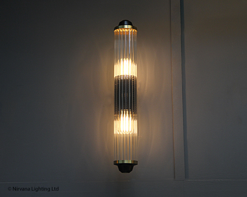 Baltimore reeded glass wall light nirvana lighting nirvana lighting mozeypictures Gallery